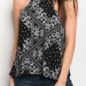 New floral black blouse